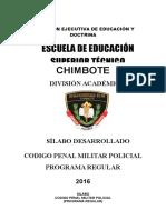 Codigo Penal Militar Policial
