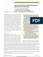 Practice Guidelines for the Perioperative Management of Patients With Obstructive Sleep Apnea