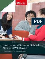 UWE Summer School English Brochure