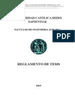 Reglamento de Tesis Fia - Ucss- 29.04.2015