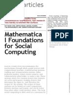 Matematica Social Computing