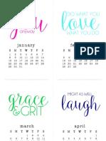 2017 AMT Small Calendar