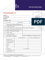 MSR Application Form