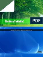 The Way to Belief