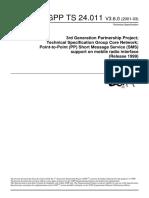 3GPP TS 24.011 v3.6.0 (2001-03)