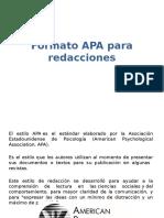 Formato APA Para Redacciones