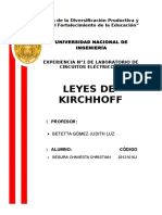 Informe Previo de Kirchhoff