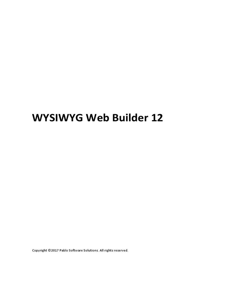 Web Builder 12 Manual Web Design File Transfer Protocol