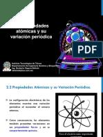 2.2 Propiedades Atómicas y Su Variación