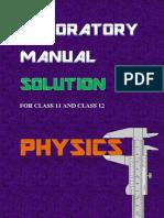 Class XI XII Laboratory Manual Solution