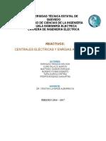 Reactivos Energia Alternativa y Centrales