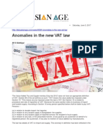 Anomalies in the New VAT Law