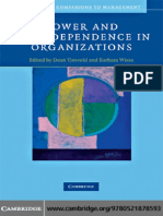 (Cambridge Companions to Management) Dean Tjosvold, Barbara Wisse-Power and Interdependence in Organizations (Cambridge Companions to Management) (2009)
