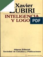 Xavier Zubiri - Inteligencia y Logos