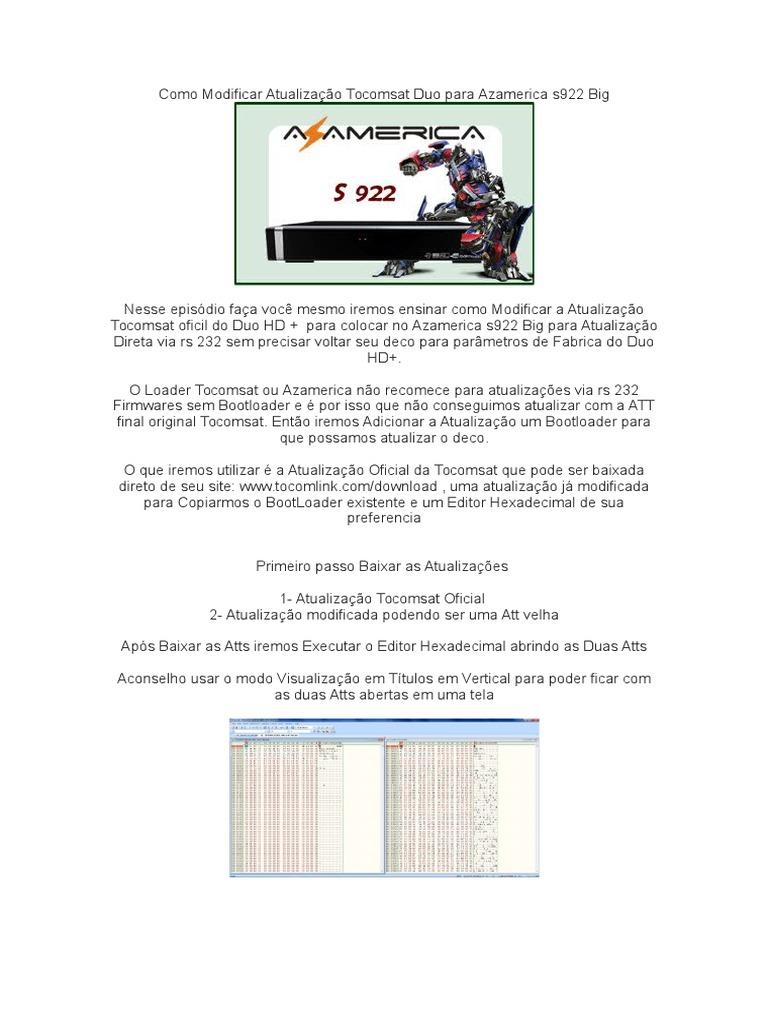 como modificar atualiza o tocomsat duo para azamerica s922 big rh scribd com Pagina Em Portugues MSN Em Portugues