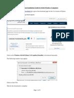 Windows Installation Guide v 1