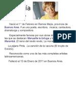 Biografía María Elena Walsh