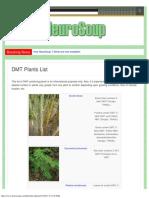 DMT Plants List NeuroSoup