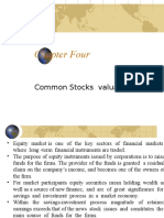 Chap 4 Stock and Equity Valuation Revised