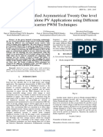 Analysis of Modified Asymmetrical Twenty One Level Inverter for Standalone PV Applications Using Different Multicarrier PWM T