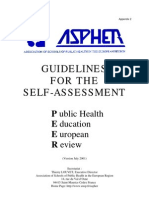 Guideline for the Self Assessment