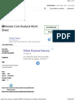 Vendor Cost Analysis