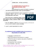 - Afise Candidati Admitere Nivel Licenta - Acte Inscriere