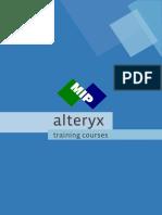 2016-Alteryx - Training Courses
