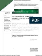 5 La Interaccionn de Politicas Agrop Con Politicas Comerciales