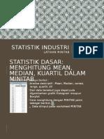 Tugas Ke-7 Soal-soal Latihan Statistik Industri Minitab