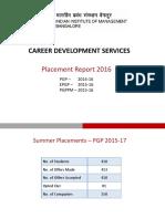 Placement Report IIMB 2016
