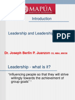 Lecture 1.0- Introduction to Leadership