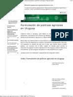 8 Formulacion de Politicas Agricolas en Uruguay