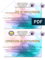 Certificate of Participation-distance Learning Program