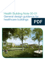 Health Building Note 00-01 General Design Guidance for Healthcare Buildings