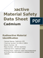 Radioactive Material Safety Data Sheet