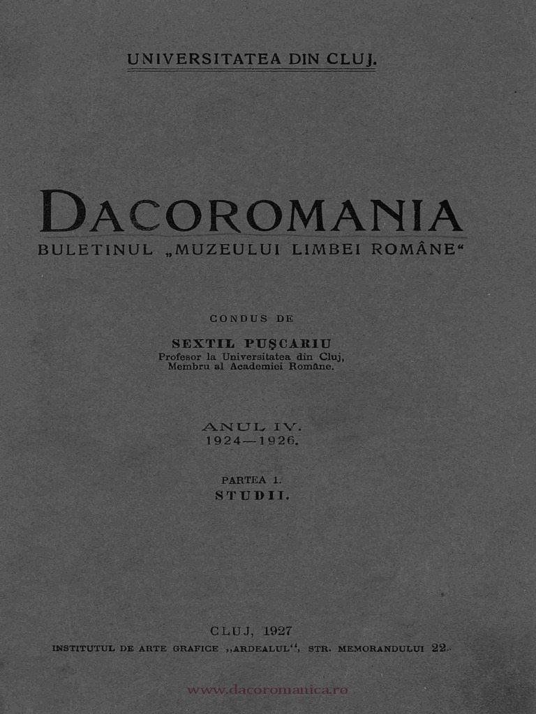 Dacoromania 1924 26 Capidan Romanii Nomazi