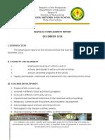 Accomplishment Report for December