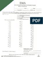 Hoja de Respuestas y Perfil EMA