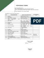 Spesifikasi Teknis KUA