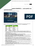 COUNTIF() and SUMIF() Formulas, Examples _ Chandoo