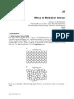 InTech-Glass as Radiation Sensor