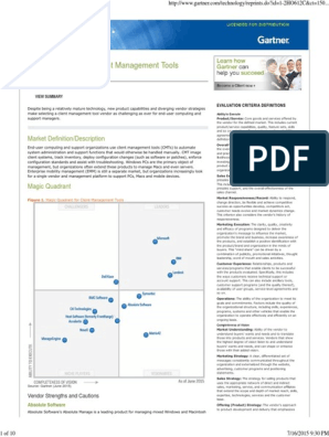 Magic Quadrant for Client Management Tools: Market