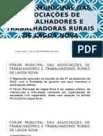 Fórum Municipal Das Associações de Trabalhadores e Trabalhadoras