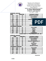Grade Six 2015-2016 Class Program