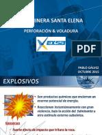 Presentacion Mina Santa Elena -PERFORACION Y VOLADURA