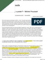Como Se Exerce o Poder_ – Michel Foucault
