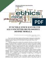 Functiile Eticii Si Evolutii Ale Conceptiilor Filosofice Despre Morala
