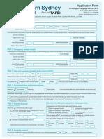 TAFE NSI English Application Form