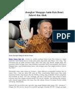 Akhirnya Terbongkar Mengapa Amin Rais Benci Jokowi Dan Ahok